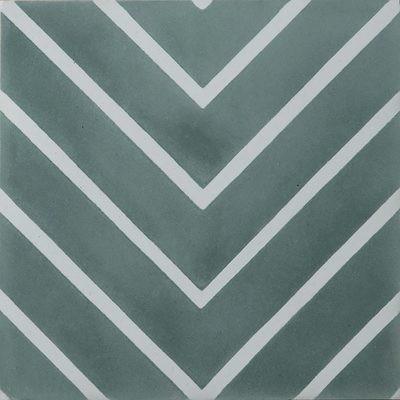 Zementfliese - Goose-Eye - Laurel/Pure White