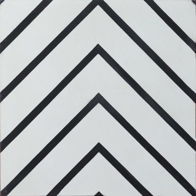 Zementfliese - Goose-Eye - Pure White/Charcoal
