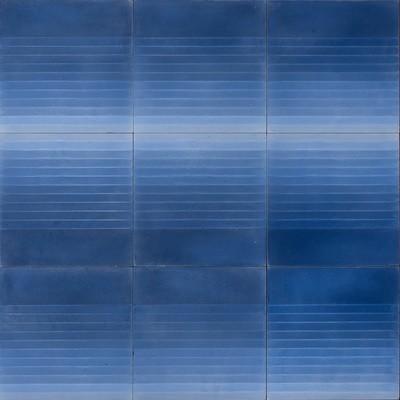 Zementfliese - Four Elements Stripes - Blue