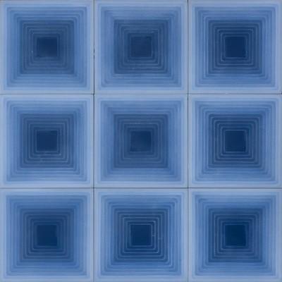 Zementfliese - Four Elements Squares - Blue