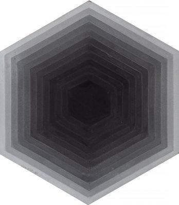 Zementfliese - Four Elements Hexagon - Grey