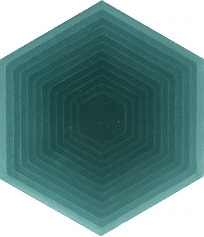 Zementfliese - Four Elements Hexagon - Green