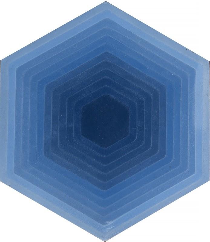 Zementfliese - Four Elements Hexagon - Blue