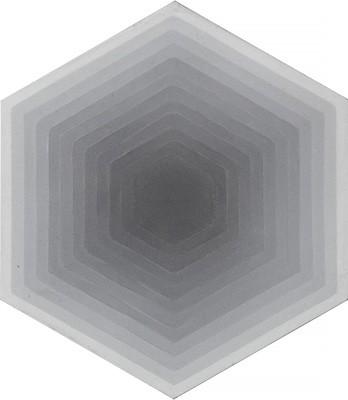 Zementfliese - Four Elements Hexagon - Greyscale