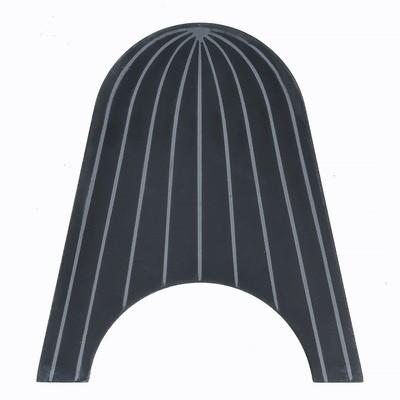Zementfliese handgefertigt - Breaking the wave - Black with Stripes