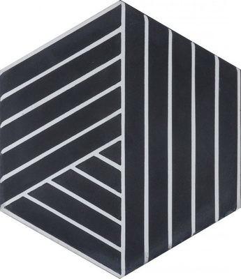 Zementfliese - Fold - Soot/Pure White