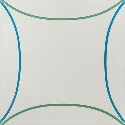 Zementfliese - Mari - Cream /Jeans/Basil