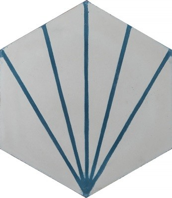 Zementfliese - Dandelion - Milk/Marine