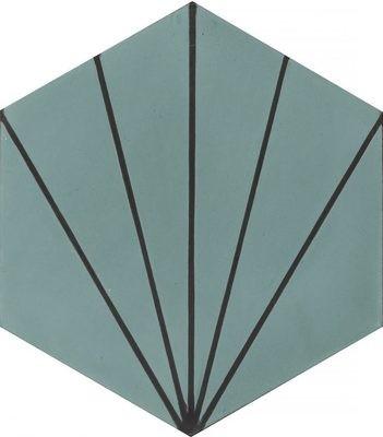 Zementfliese - Dandelion - Oregano/Almost Black