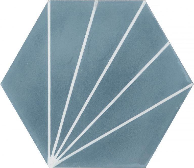 Zementfliese - Dandelion - Pigeon Blue/Pure White