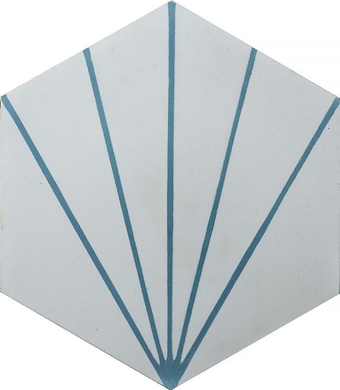 Zementfliese - Dandelion - Ivory/Pigeon Blue