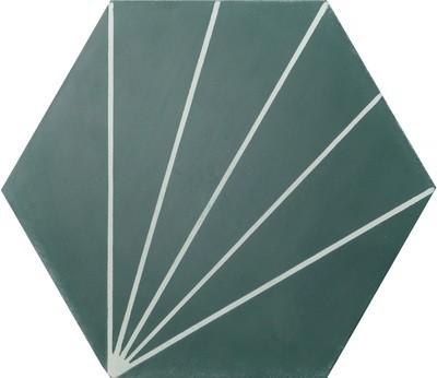 Zementfliese - Dandelion - Bottle Green/Canvas