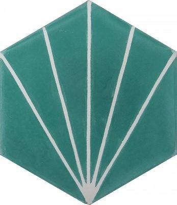 Zementfliese - Dandelion - Aqua/Milk