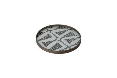 Tablett rund, 48cm - Glas, Graphite Bohemian