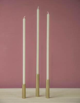 20 Kerzen elfenbein 300 x 10 mm