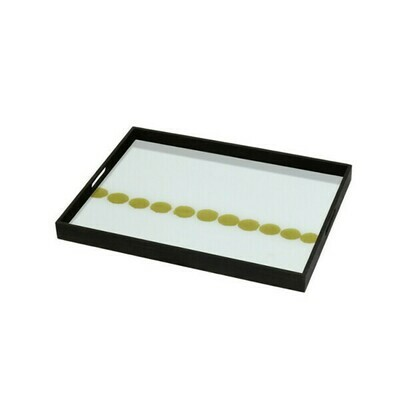 Tablett rechteckig - Glas, Dotted Line S
