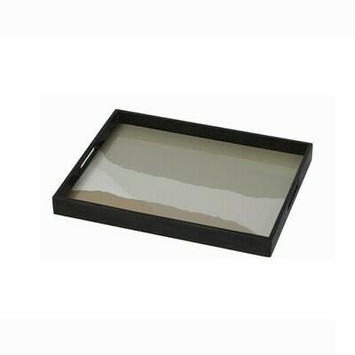 Tablett rechteckig - Glas, Sand Wabi Sabi S