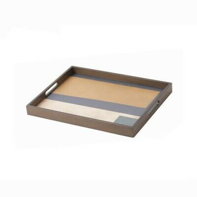 Tablett rechteckig - Holz, Geo Study S