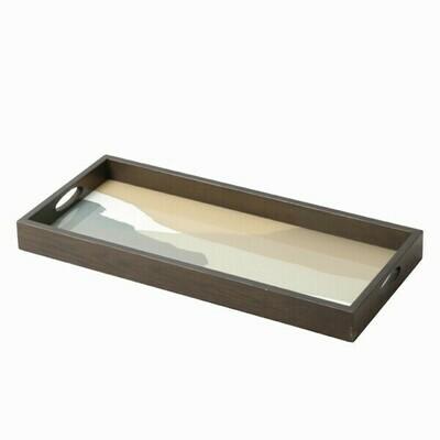 Tablett rechteckig - Glas, Slate Wabi Sabi M