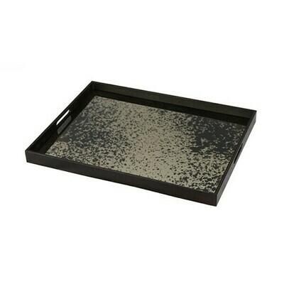 Tablett rechteckig - Spiegelglas, Bronze L
