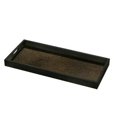 Tablett rechteckig - Spiegelglas, Bronze M