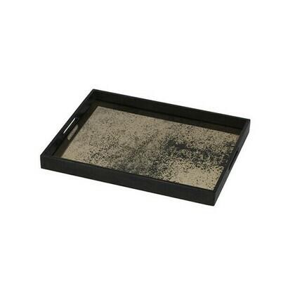 Tablett rechteckig - Spiegelglas, Bronze S