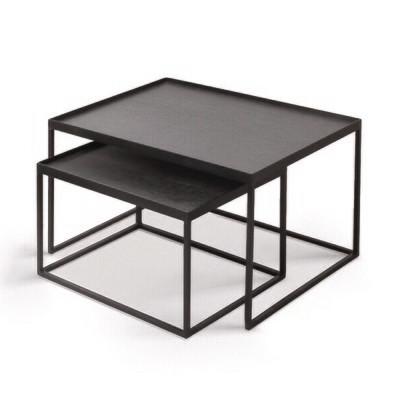 Coffeetable Set - rechteckig S/L, Höhe 31cm und 38cm