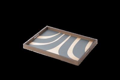 Tablett rechteckig - Holz, Slate Curves L