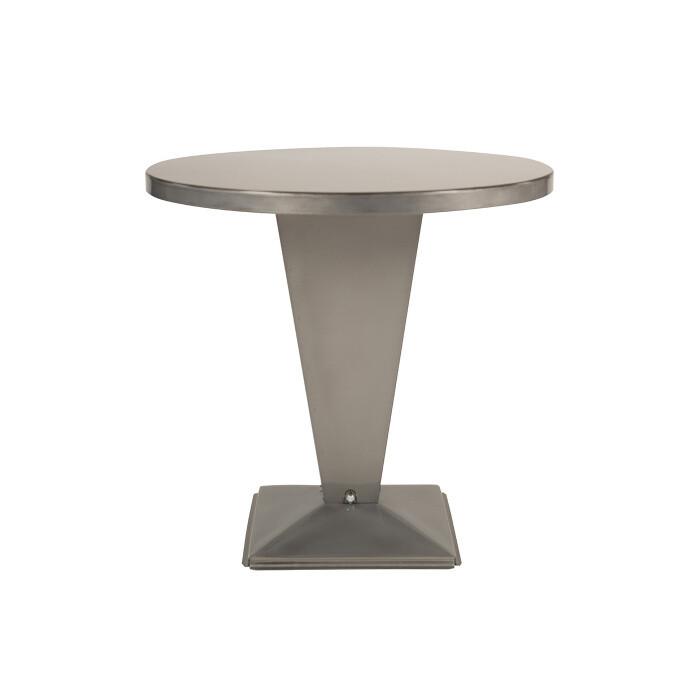 Tolix - Kub Tisch - rund Brut Vernis