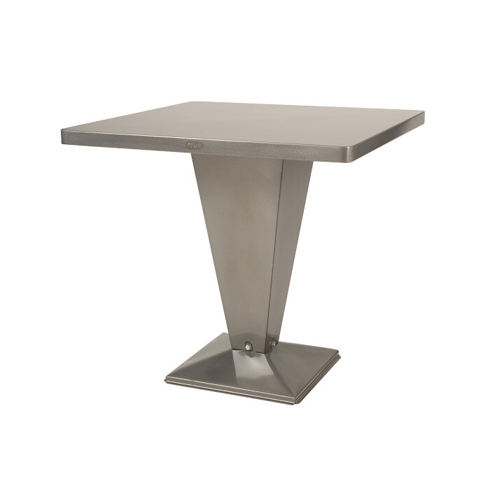 Tolix - Kub Tisch - quadratisch Brut Vernis