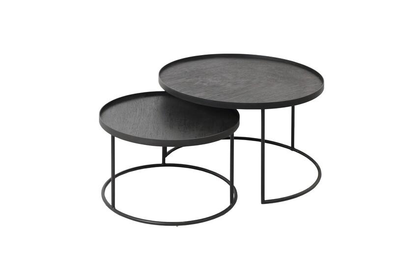 Coffeetable Set - rund S/L, Höhe 31cm und 38cm