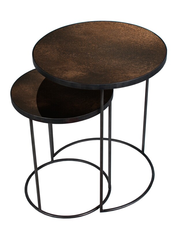 Nesting Sidetable Set - Bronze, Kupfer