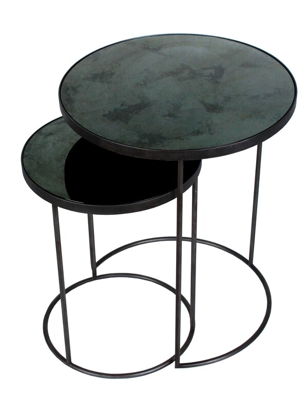 Nesting Sidetable Set - Spiegelglas Charcoal