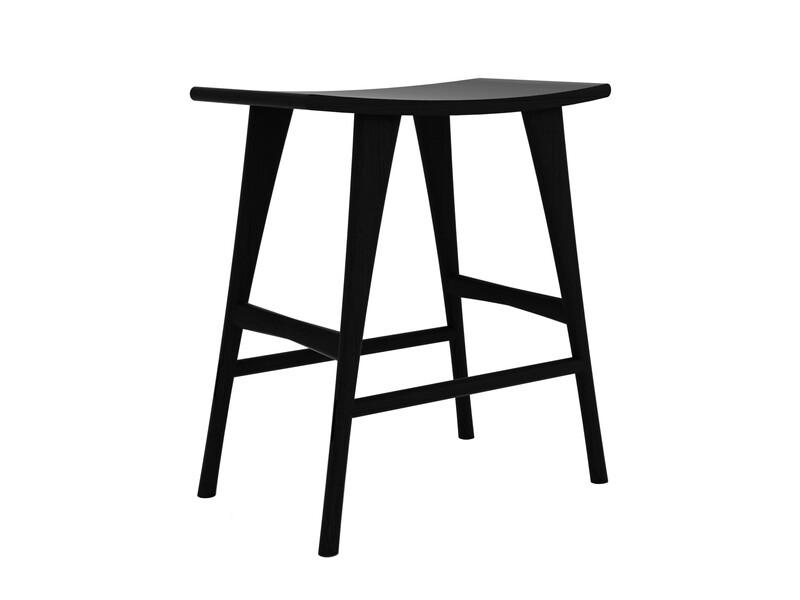 Osso Stuhl - Eiche, schwarz, hoch