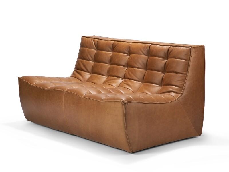N701 Sofa - 2 Sitzer, Leder