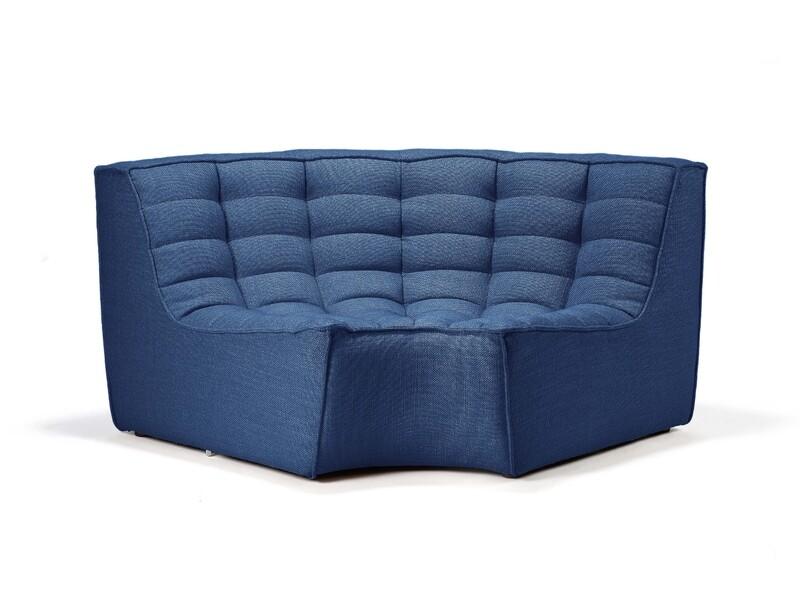 N701 Sofa - runde Ecke, Blau