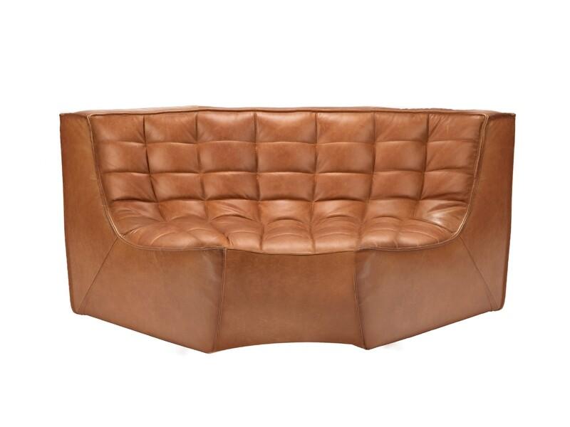 N701 Sofa - runde Ecke, Leder