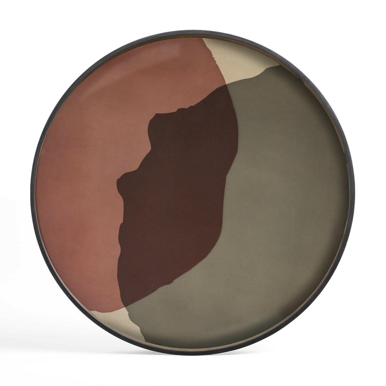Tablett rund, 92cm - Glas, Pinot Combined Dots
