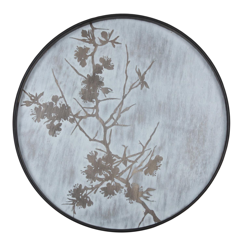 Tablett rund, 48cm - Holz, Blossom