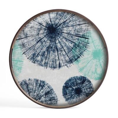 Tablett rund, 48cm - Glas, Umbrellas