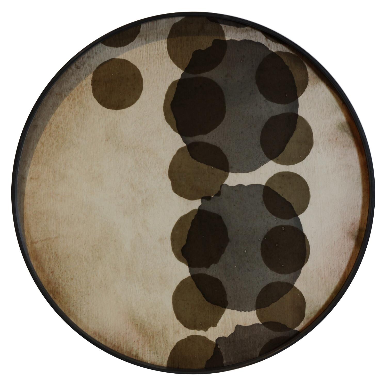 Tablett rund, 61cm - Glas, Slate Layered Dots