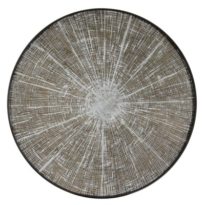 Tablett rund, 92cm - Holz, White Slice