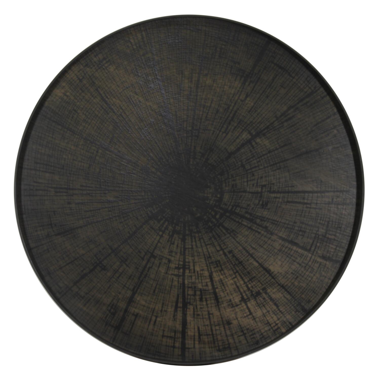 Tablett rund, 92cm - Holz, Black Slice