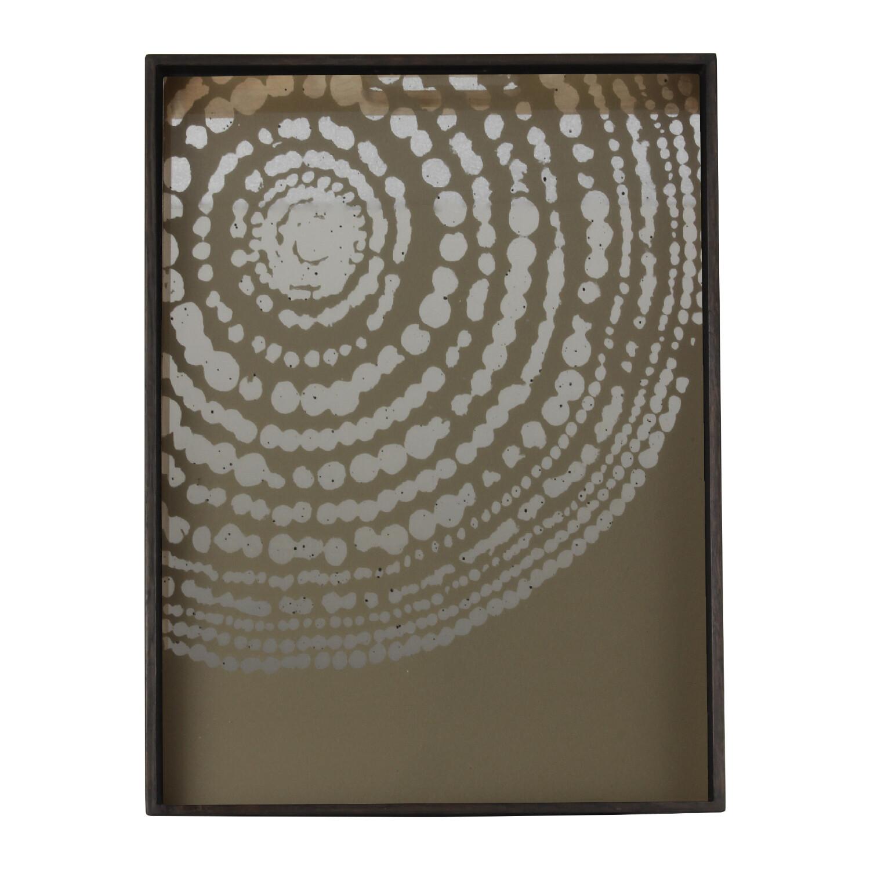 Tablett rechteckig, S - Spiegelglas, Beaded Detail