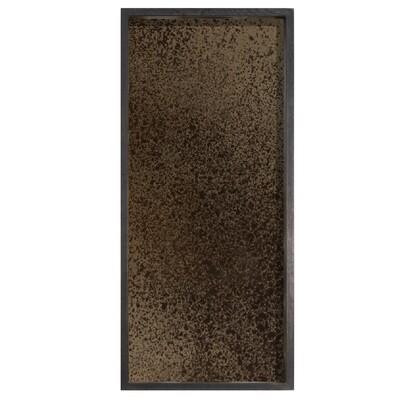 Tablett rechteckig, M - Spiegelglas, Bronze