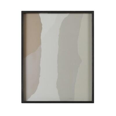 Tablett rechteckig, S - Glas, Sand Wabi Sabi