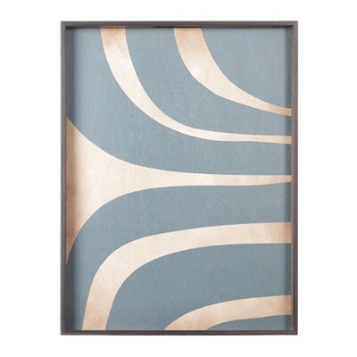 Tablett rechteckig, L - Holz, Slate Curves