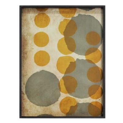 Tablett rechteckig, L - Glas, Sienna Layered Dots