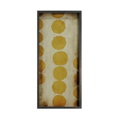 Tablett rechteckig - Spiegelglas, Sienna Dots M