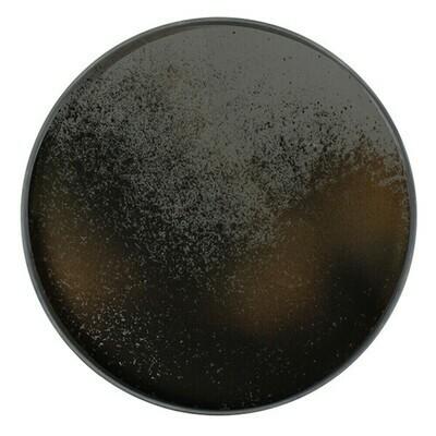 Tablett rund, 48cm - Spiegelglas, Heavy Aged